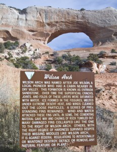 Wilson Arch and Sign