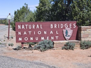 Natural Bridges National Monument sign