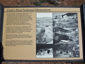 Natural Bridges NM Sign