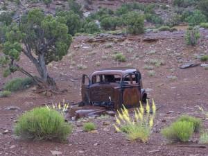 Temple Mountain car shell