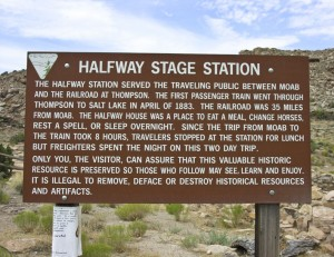 Half Way Stage Station Sign