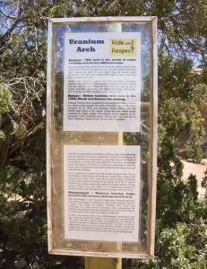 Uranium Arch Sign