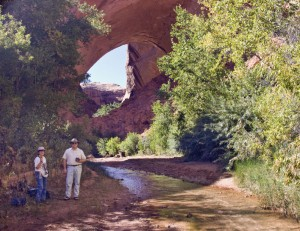 Sam and David at Jacob Hamblin Arch