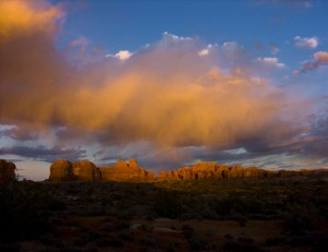 Arches Sunset Storm