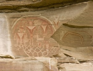 The Box Pictographs, Temple of the Sun & Glass Mountain