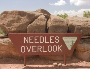 Needles Overlook Sign