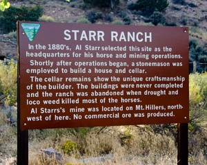 Starr Ranch Sign