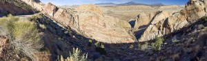 Burr Trail Switchbacks panorama