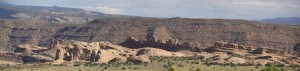 Delicate Arch Mesa panorama