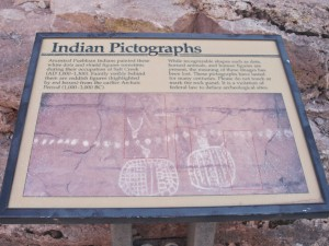 Peek-a-Boo Springs pictograph sign