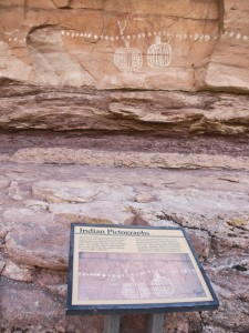 Peek-a-Boo Springs pictographs & sign
