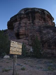 Salt Canyon sign