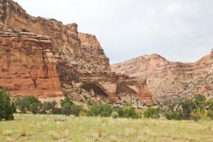 Calf Canyon twin alcoves