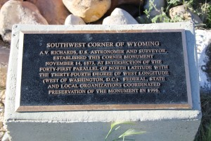 Wyoming - Utah Corner Plaque