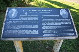 Wilford Woodruff Home Plaque