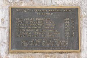 Sheep Creek Canyon Memorial Plaque