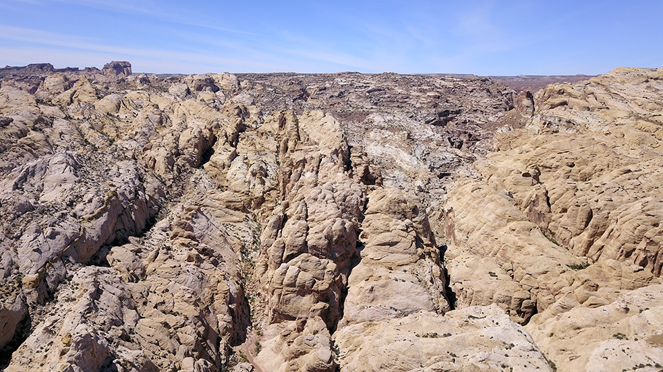 Aerial View of Crack Canyon